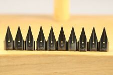 10 x Lamy Z50 Black Replacement Fountain Pen Nib, Medium