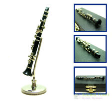 1:12 Toy Dollhouse Miniature Clarinet Musical Instrument w/ Box Stand Music Gift