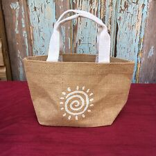Hessian Jut X10 Lunch Gift Storage Sun Star Tote Bag Durable Eco