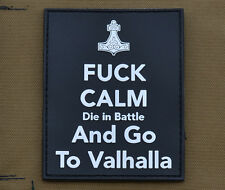 """PVC / Rubber Patch """"Keep Calm....and go to Valhalla"""" with VELCRO® brand hook"""