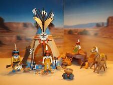 Playmobil Sioux Indianer Familie mit 2 Pferde, 1 Tipi und viel Zubehör 04