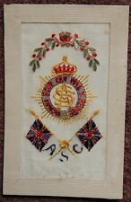 Army Service Corps Sent from France 1917 Woven Silk Postcard World War 1 WWI