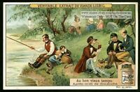 Relaxing On A Sunday Afternoon  A FUN 1910 Trade Ad Card