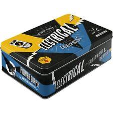 Vorratsdose Flach / Geschenke Box -Electrical Equipment Retro Nostalgic Art