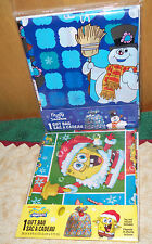 "2 -GIANT GIFT BAGS ~ 36"" X 44"" 1 -SPONGEBOB AND 1 -FROSTY ~ DETAILED DESIGN!~NEW"