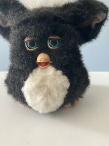 Furby 59294 Black White & Blue Eyes Hasbro Tiger 2005 Works Rare Find
