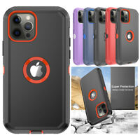 For iPhone 12/12 Pro Max Mini Case Shockproof Armor Hybrid Rugged Defender Cover