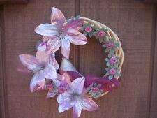 Handmade Fabric Flower wreath/Valentines day Bird wreath/Mother's day wreath