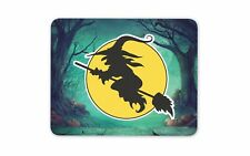 Witch & Broomstick Mouse Pad Mat - Computer PC Gaming Gift #4273