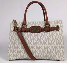 NEW Michael Kors Hamilton Large Signature PVC Tote Shoulder Bag Vanilla