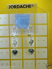 B84:New Jordache Fashion Earrings from USA-Silver Tone