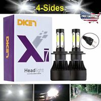 H7 Headlight Bulbs LED 16000LM 160W Cool White 6000K Conversion Kit 4 Side Chips