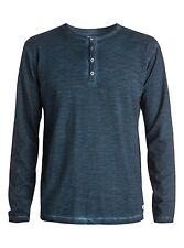Quiksilver Runaround L/S Buttom Down Blue (BRQ0) Knits Shirts Sz Medium