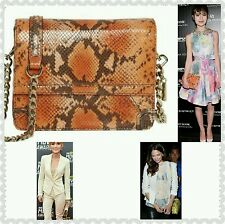 NWT $345 ALICE & OLIVIA Clee Python Snakeskin Embossed Bag Clutch Celebrity