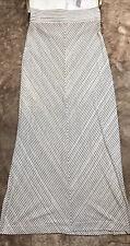 Lou & Grey Loft Maxi Shirt Striped Womens Size XS Ivory Black Gray