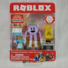 Roblox Figure Cleaning Simulator Todd the Turnip W/ Accessories & Code R1 VHTF!
