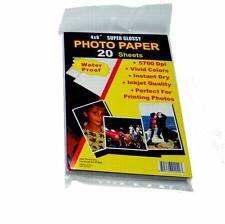 "Lot of 400 Sheets - Premium Inkjet 4"" x 6"" Photo Paper Gloss Finish"