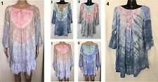 LADIES casual Top or Dress 3/4 Sleeve OSFA Plus Larger Size 14 16 18 20 22