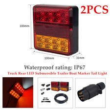 12V 5W Truck Rear LED Submersible Trailer Boat Marker Tail Light Kit Waterproof