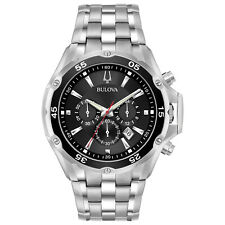 Bulova Men's Quartz Chronograph Black Date Calendar Dial 45mm Watch 98B333