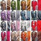 Women Soft Paisley PASHMINA SILK Classic Cashmere Wool SHAWL Scarf Stole WRAP