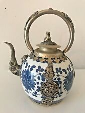 Antique Chinese white/blue implant gragon & Phoenix pot