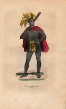 Stampa antica ISOLA MADISSON giovane uomo Oceania 1852 Old print