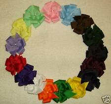 """""""32 SMALL BOUTIQUE HAIRBOWS"""" (Basic,Bold,Pastel)"""