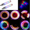 2x Bicycle Bike Car Tire Tyre Wheel Valve Caps LED Flash Lamp Light Motorbicycle