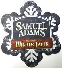 SAMUEL ADAMS WINTER LAGER Beer Coaster MAT, Christmas, Boston MASSACHUSETTS 2012