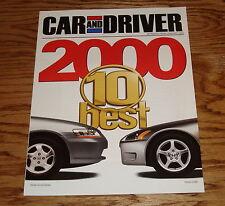 2000 Honda Accord / S2000 Car and Driver Sales Brochure 00