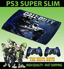 PLAYSTATION PS3 SUPER SLIM CALL OF DUTY GHOSTS 001 SOLDIER FACE SKIN STICKER