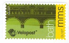 BATH VELOPOST Bicycle post  - mms Letter Stamp (Used on paper)