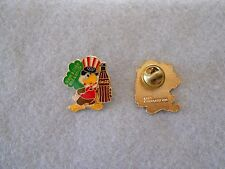 Vintage 1984 L.A. Olympics Coca Cola Sam green 'have a coke and a smile' pin