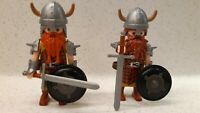 2x Playmobil Brauch Wikinger Custom Viking - Rar TOP