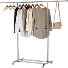 KingSo 67'' Heavy Duty Commercial Garment Rack Rolling Clothing Storage Rack US