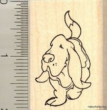 Basset Hound dog Rubber Stamp F11311 WM bassett