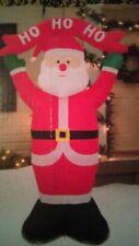 8' Santa LED Ho Ho Ho  airblown inflatable lights up Christmas lawn yard dec