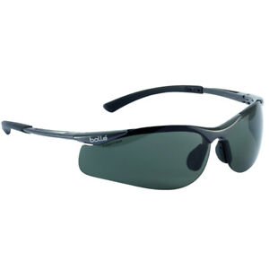Bolle Contour II Polarized Protective Sunglasses,  Black Frame/Smoke Lens