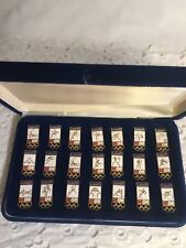 1984 OLYMPIC GAMES LOS ANGELES Sponsor LABATT BEER PIN SET ALL 21 SPORTS IN CASE