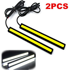 2x Super Bright White Car COB LED Lights DRL Fog Driving Lamp Waterproof DC 12V