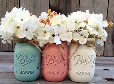 Boho Mason jar decor distressed Ivory set wedding decor tablescape farmhouse