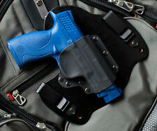 M&P 45 MP Smith and Wesson Black Leather Kydex Hybrid Gun Holster IWB Tuck