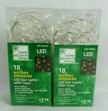 36 LED Warm White Fairy Decorative Lights Christmas Stars Indoor Plus Timer
