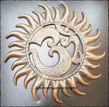 OM AUM WITH SUN METAL WALL HANGING STATUE VINAYAK HINDU INDIA