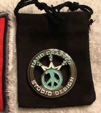 RARE Scotty Cameron Tiffany and White Peace Head Coin Ball Mark Marker