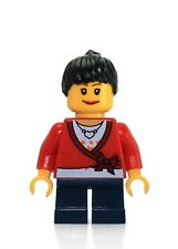 LEGO City MiniFigure: Sweater Cropped w/ Bow (Heart Necklace, Short Legs)