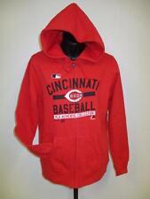 NEW MLB Cincinnati Reds Womens M Medium Majestic Red Full-Zip Hoodie-Jacket
