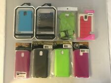 LOT of 8 Misc Samsung Galaxy Note 3 Cases NEW