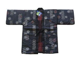 Japanese Men Kimono Hanten Warm Wear Reversible Winter Coat Jacket Made in Japan